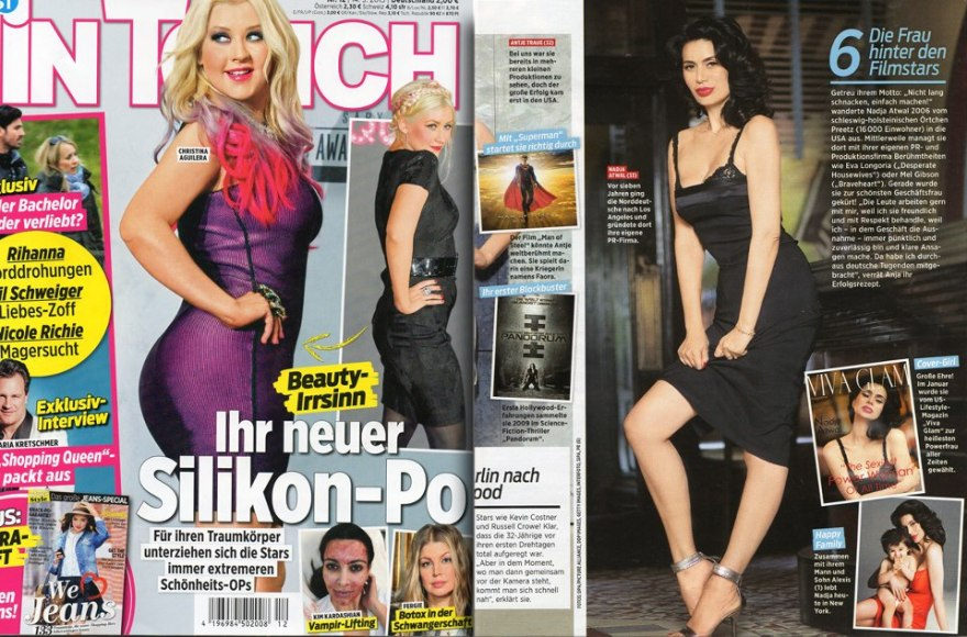 Nadja Atwal IN TOUCH Magazin März 2013