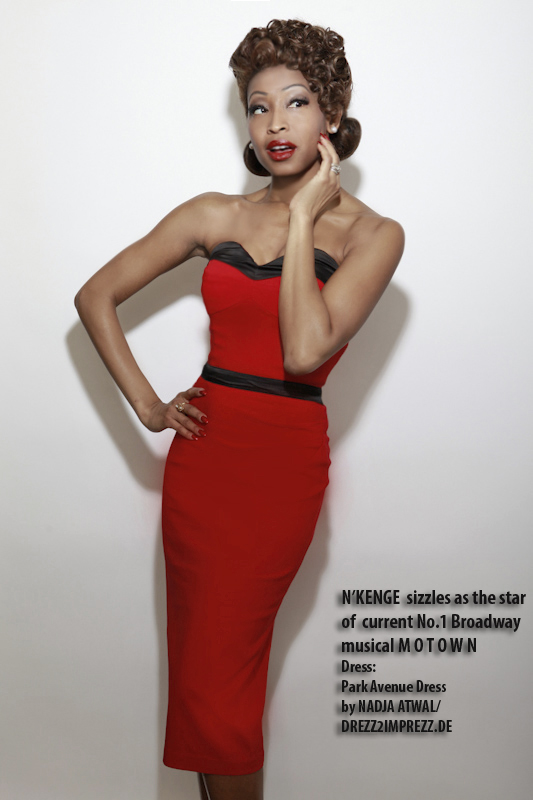Broadway star N'Kenge in Park Avenue DRess by Nadja Atwal for Drezz2Imprezz